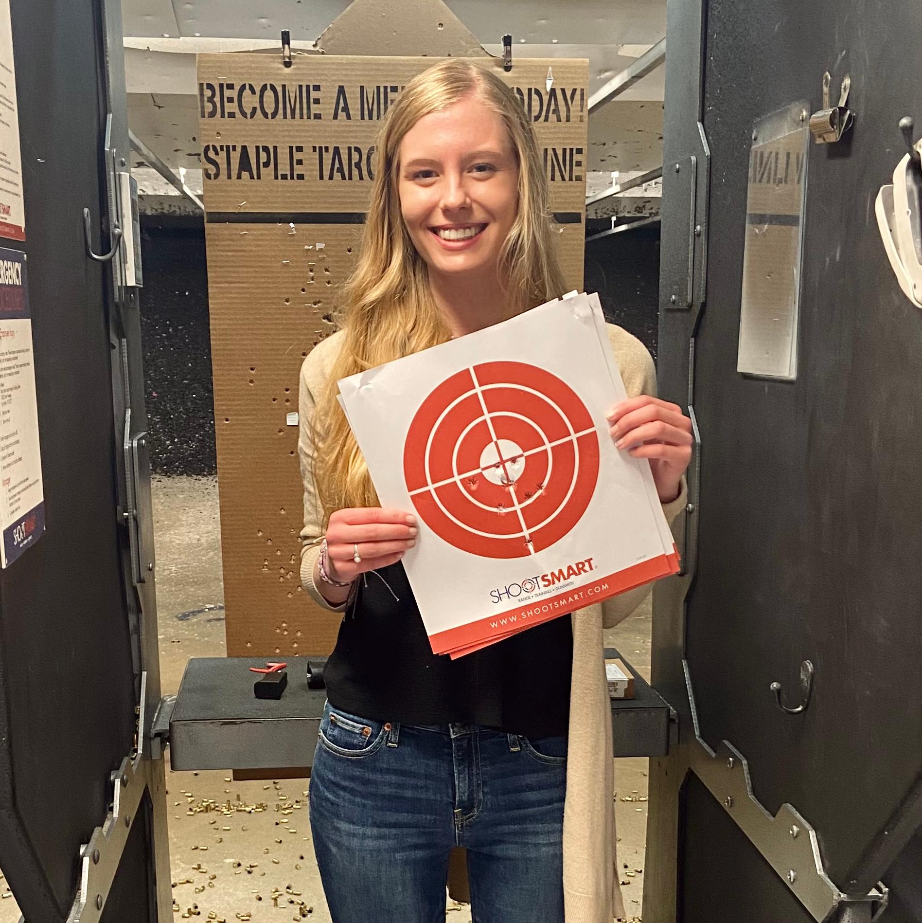 Ellie target shoot